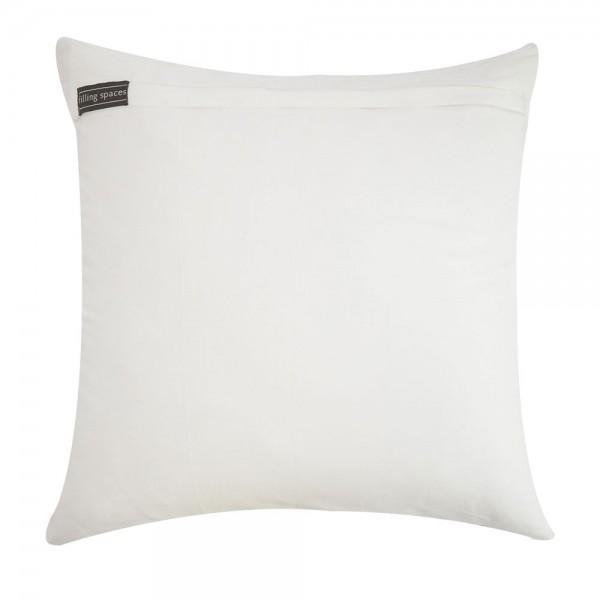 White & Gray Velvet Appliqué Linen Pillow - Image 2 of 2