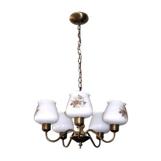 Floral Glass Shades Chandelier