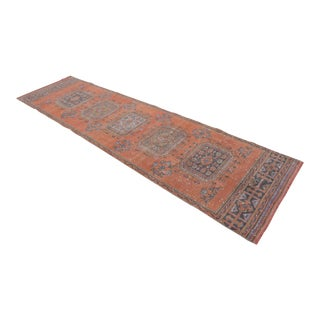"Distressed Oushak Rug Runner - 3'1"" x 10'11"""