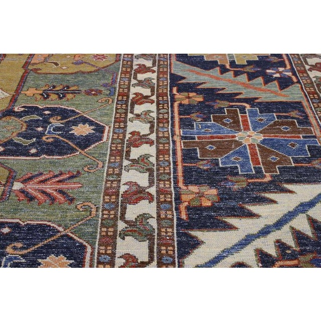 "Contemporary Persian Heriz Rug - 15' x 18'10"" - Image 8 of 9"