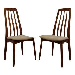 Teak Dining Side Chairs - A Pair