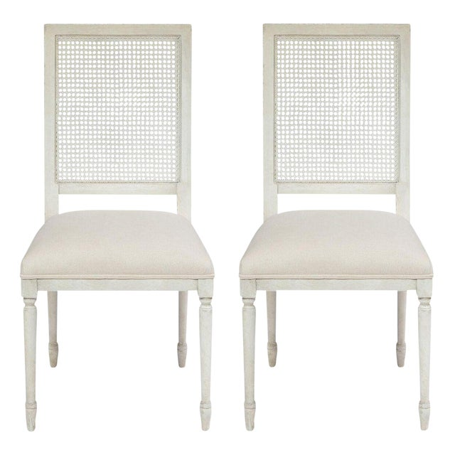 Sarreid Ltd Beechwood & Cane Chairs - a Pair - Image 1 of 7