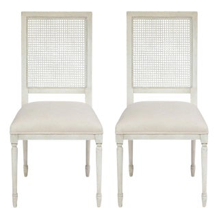Sarreid Ltd Beechwood & Cane Chairs - a Pair