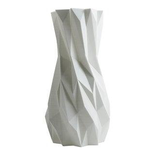 Elemental White 3D Printed Plastic Vase