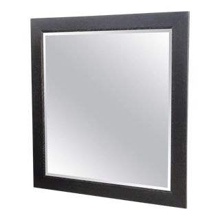 Large Ebonized and Limed Oak Mirror, Jamie Herzlinger
