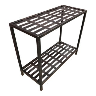 Woven Metal Console Table