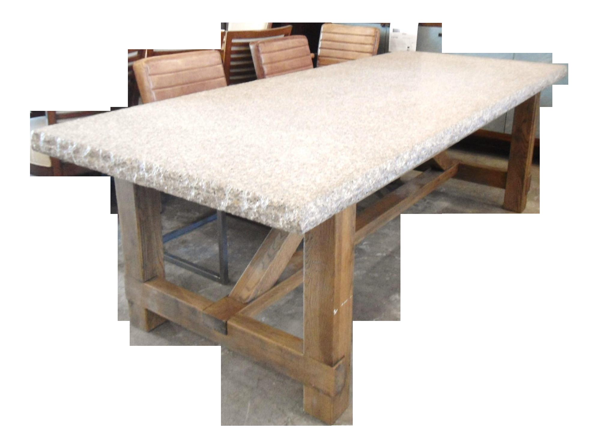 Granite Top Dining Table with Raw Wood Base Chairish : 33cc8c76 6c0b 43ce b3e4 e520b599c1ceaspectfitampwidth640ampheight640 from www.chairish.com size 640 x 640 jpeg 30kB