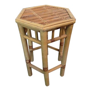 Bamboo & Wood Side Table