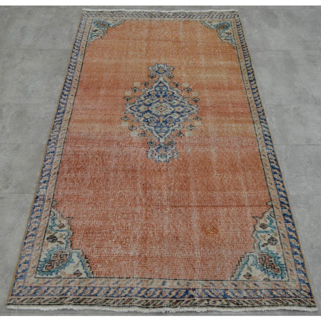 "Turkish Brown Overdyed Hand Knotted Rug - 3'4"" X 6'7"" - Image 3 of 9"