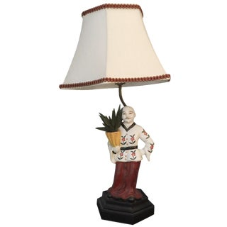 Chinoiserie Porcelain Figure Lamp