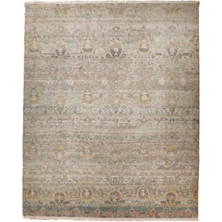 Ikat Hand-Knotted Luxury Rug - 9′ × 12′3″