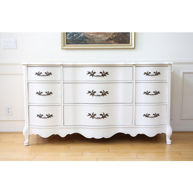 Shabby Chic French Provincial Vintage Dresser by Bassett - Image 2 of 8
