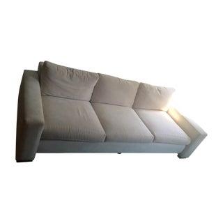 Maurice Villeney Cream Microsuede Sofa