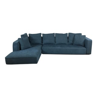 Aqua Blue Modern Sectional Sofa