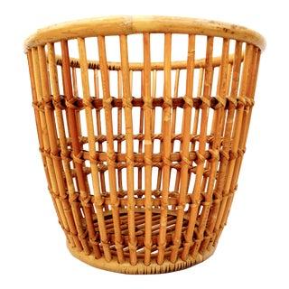 Franco Albini Mid-Century Rattan Basket