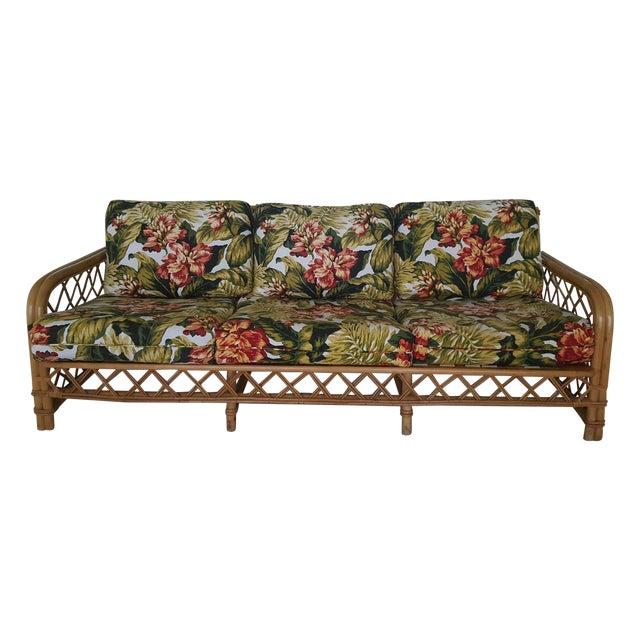 Ficks Reed Mid-Century Rattan Sofa - Image 1 of 3