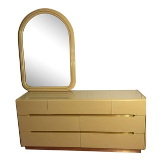 Vintage Dresser and Mirror Circa 1970's