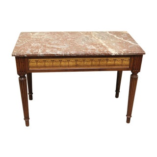 Antique French Marble Topped Console