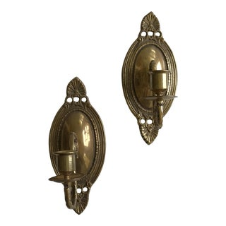 Vintage Brass Wall Sconces - A Pair