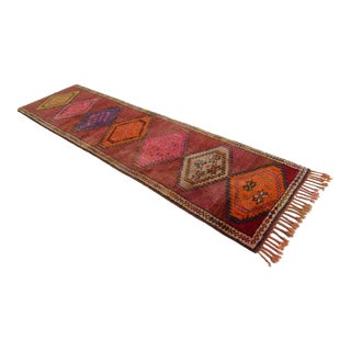Kurdish Hand Knotted Runner Rug - 3′1″ × 11′4″