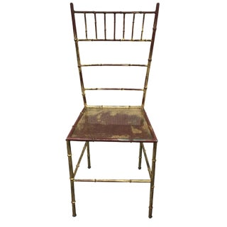 Mid-Century Metal Bamboo-Style Chair