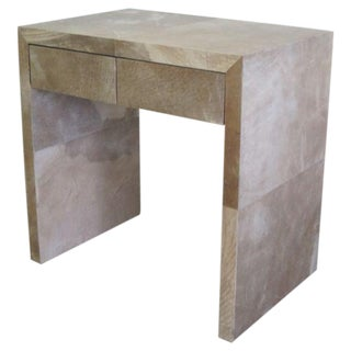 Pair of French Parchment Nightstands after Jean-Michel Frank