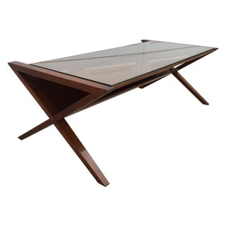 John Van Koert Walnut Coffee Table