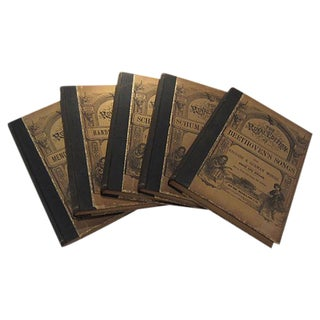 Antique Traditional Song Books - Set of 5