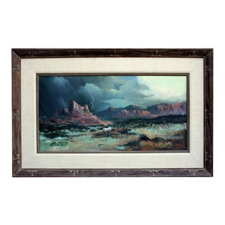 "Elmer Fredrick Ekeroth ""The Journey and Desert Storm"" Painting"