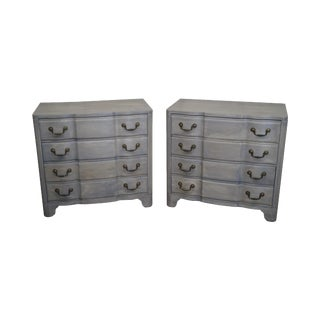 Widdicomb French Louis XV Style Grey Wash Painted Chests- A Pair