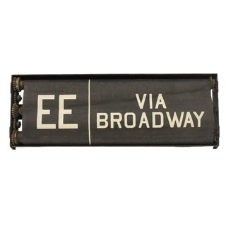 Early 20th Century New York City Train Destination Sign