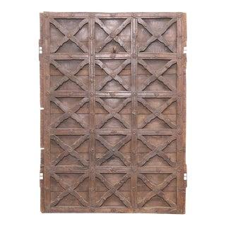 Original Moorish Teak Door Panel