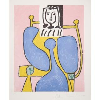 Pablo Picasso Lithograph - Femme a La Robe Bleue