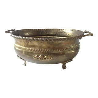 Hammered Brass Cache Pot