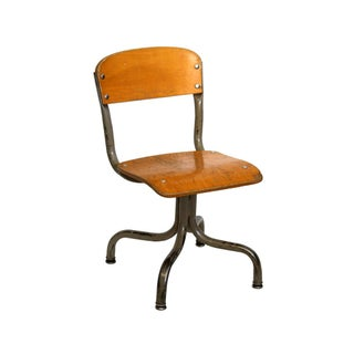 Vintage Wood & Metal Children's Chair