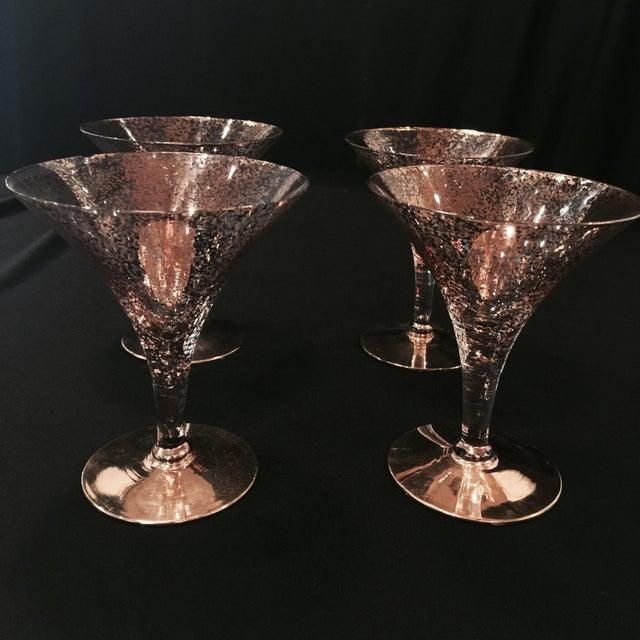 Image of Vintage Crystal Martini Glasses - Set of 4