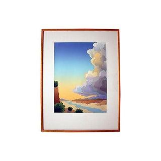 Artist-Signed Modern Colorful Framed Landscape