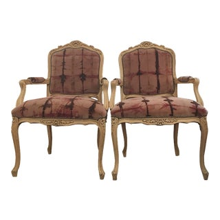 Vintage Bergere Chairs - Pair