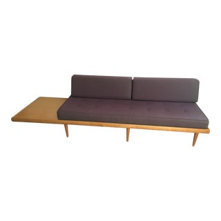 Mid-Century Modern Sofa With Built-In Side Table