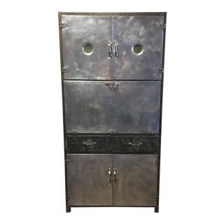 Vintage 1920's Industrial Metal Cabinet