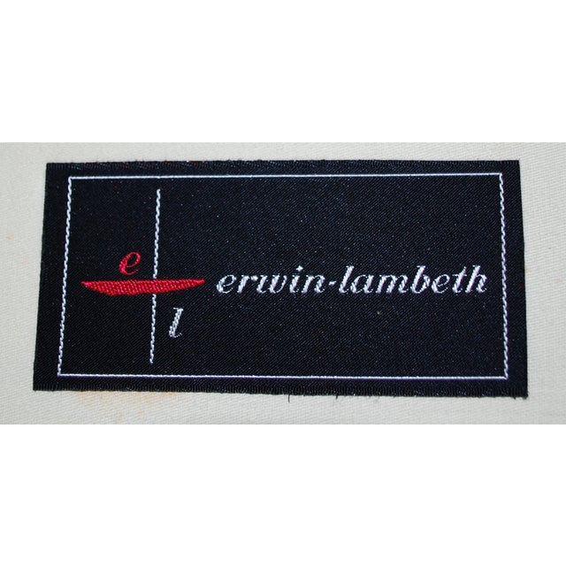 Vintage Erwin-Lambeth Three-Seat Green & Aqua Sofa - Image 3 of 10