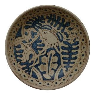Italian Mid Century Modern Pottery Plaque