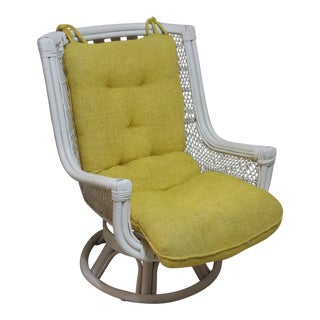 Vintage Swivel Egg Rattan Chair