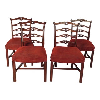 Chippendale Ribbon Back Chairs - Set of 4