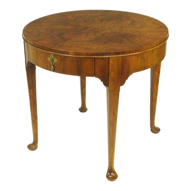 """Baker Furniture """"Milling Road"""" Figured Walnut Regency Side Table - Image 1 of 10"""