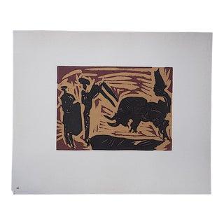 "Vintage Picasso Lithograph-""Banderilles"""