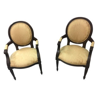 Baker Vintage Style French Provincial Arm Chairs - a Pair