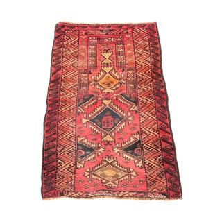 "Vintage Red Persian Rug - 2'5""x3'9"""