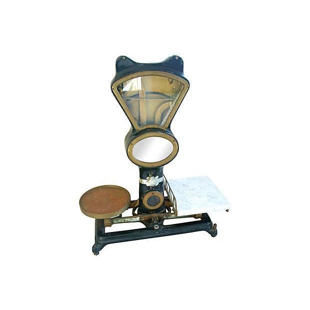 Image of Antique Mercantile Balance Scale w/Marble Slab