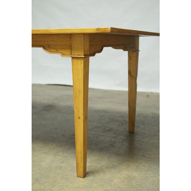 Italian Pine Farm Dining Table - Image 9 of 11
